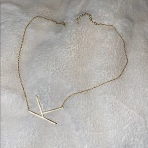 """""""K"""" necklace from Anthropologie"""